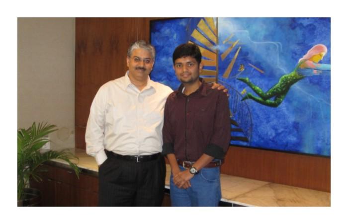 Meeting Bakshi sir
